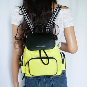 Michael Kors Abbey M Cargo Backpack Bright Yellow